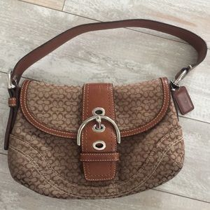 "🌼 Coach Signature ""C"" Logo Soho Brown Purse"